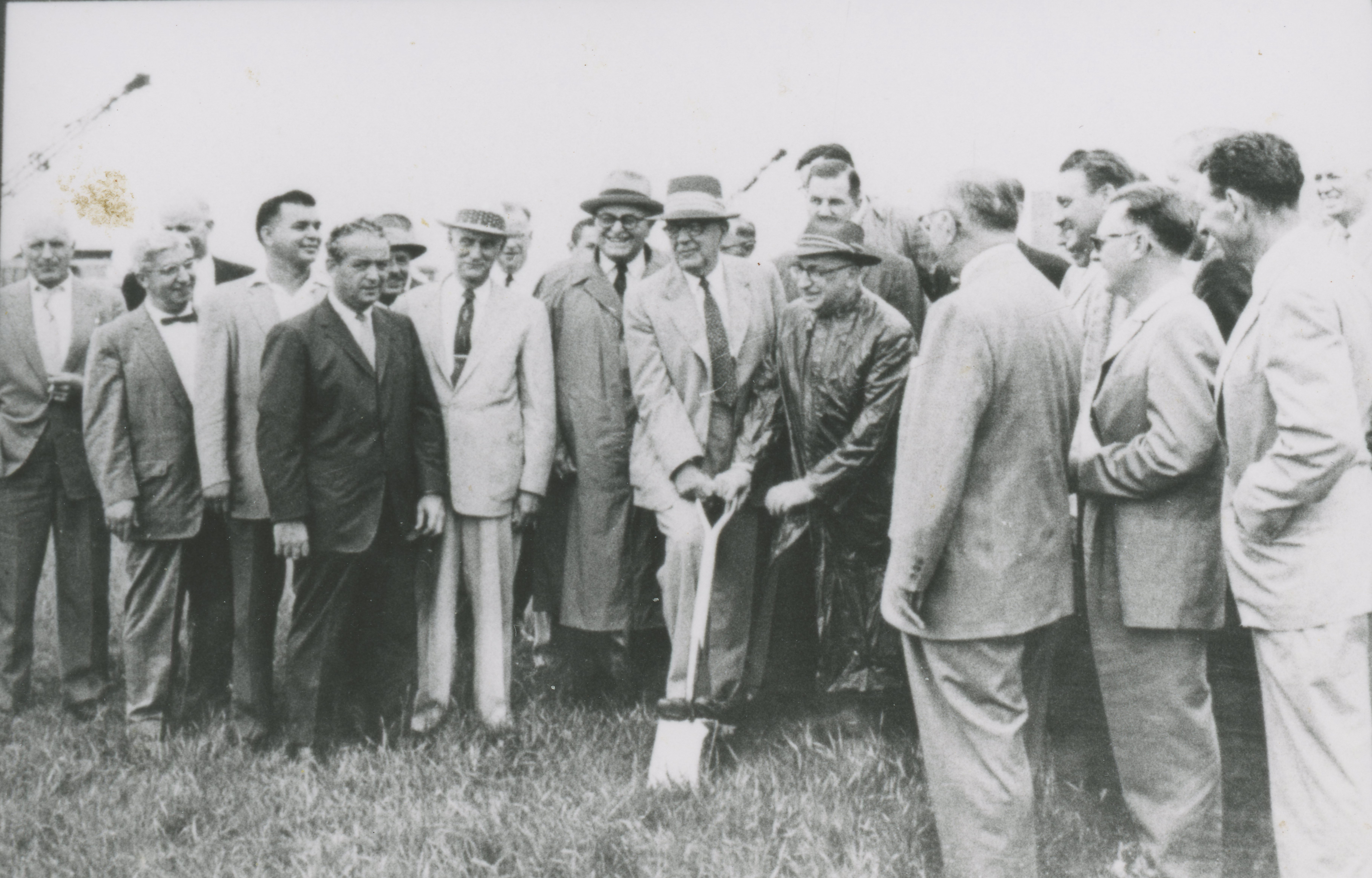 The groundbreaking for Wayne County Airport.